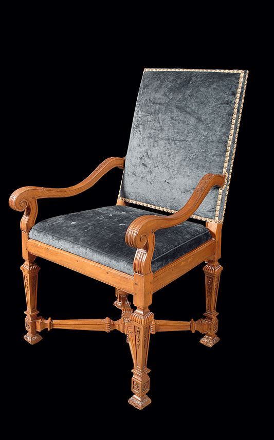 A LOUIS XIV PAIR OF WALNUT FAUTEUILS | MasterArt